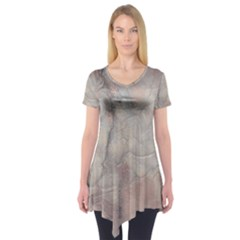 Marbled Structure 5a Short Sleeve Tunic