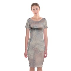 Marbled Structure 5a Classic Short Sleeve Midi Dress