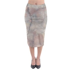 Marbled Structure 5a Midi Pencil Skirt