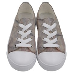 Marbled Structure 5a Kids  Low Top Canvas Sneakers