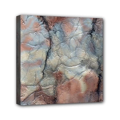 Marbled Structure 5a2 Mini Canvas 6  X 6
