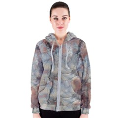 Marbled Structure 5a2 Women s Zipper Hoodie
