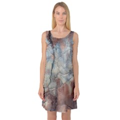 Marbled Structure 5a2 Sleeveless Satin Nightdress