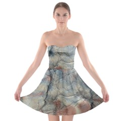 Marbled Structure 5a2 Strapless Bra Top Dress