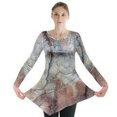 Marbled Structure 5a2 Long Sleeve Tunic