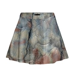 Marbled Structure 5a2 Mini Flare Skirt
