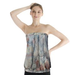 Marbled Structure 5a2 Strapless Top