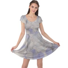 Marbled Structure 5b Cap Sleeve Dress
