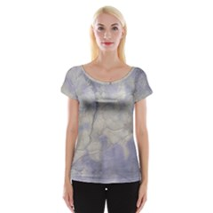 Marbled Structure 5b Cap Sleeve Tops