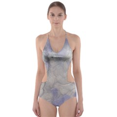 Marbled Structure 5b Cut Out One Piece Swimsuit