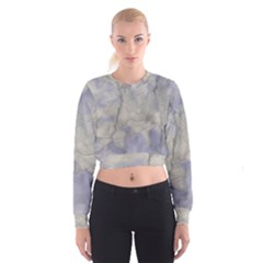 Marbled Structure 5b Cropped Sweatshirt