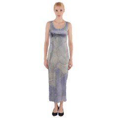 Marbled Structure 5b Fitted Maxi Dress
