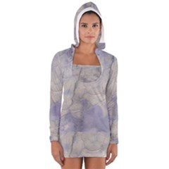 Marbled Structure 5b Long Sleeve Hooded T Shirt