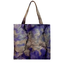 Marbled Structure 5b2 Zipper Grocery Tote Bag
