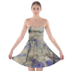 Marbled Structure 5b2 Strapless Bra Top Dress
