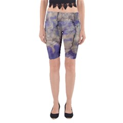Marbled Structure 5b2 Yoga Cropped Leggings