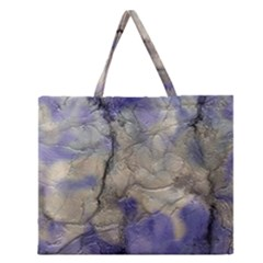 Marbled Structure 5b2 Zipper Large Tote Bag