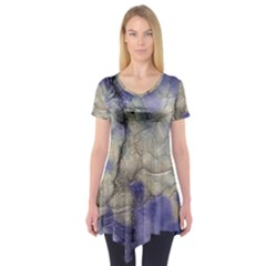 Marbled Structure 5b2 Short Sleeve Tunic