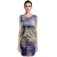 Marbled Structure 5b2 Classic Sleeveless Midi Dress
