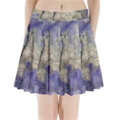 Marbled Structure 5b2 Pleated Mini Skirt