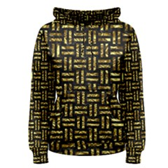 Woven1 Black Marble & Gold Foil Women s Pullover Hoodie