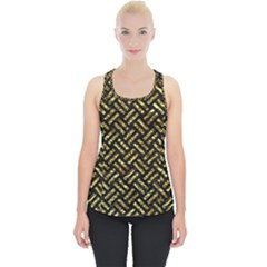 Woven2 Black Marble & Gold Foil Piece Up Tank Top