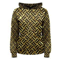 Woven2 Black Marble & Gold Foil (r) Women s Pullover Hoodie