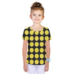 Circles1 Black Marble & Gold Glitter Kids  One Piece Tee