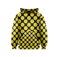 Circles2 Black Marble & Gold Glitter Kids  Pullover Hoodie