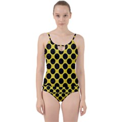 Circles2 Black Marble & Gold Glitter (r) Cut Out Top Tankini Set