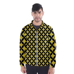 Circles3 Black Marble & Gold Glitter (r) Wind Breaker (men)