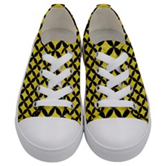 Circles3 Black Marble & Gold Glitter (r) Kids  Low Top Canvas Sneakers