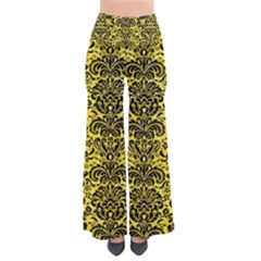 Damask2 Black Marble & Gold Glitter (r) Pants