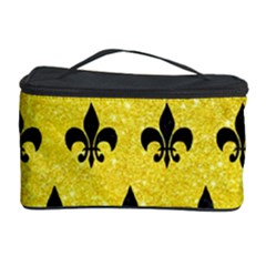 Royal1 Black Marble & Gold Glitter Cosmetic Storage Case