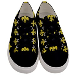 Royal1 Black Marble & Gold Glitter (r) Men s Low Top Canvas Sneakers