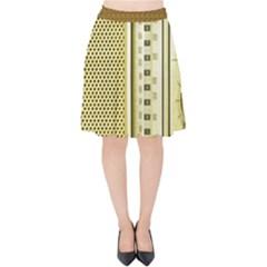 I Love My Radio! Velvet High Waist Skirt