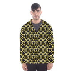 Scales2 Black Marble & Gold Glitterscales2 Black Marble & Gold Glitter Hooded Wind Breaker (men)