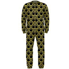 Scales2 Black Marble & Gold Glitterscales2 Black Marble & Gold Glitter Onepiece Jumpsuit (men)