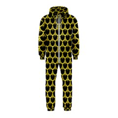 Scales3 Black Marble & Gold Glitter Hooded Jumpsuit (kids)