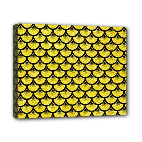 Scales3 Black Marble & Gold Glitter (r) Canvas 10  X 8