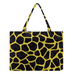 Skin1 Black Marble & Gold Glitter (r) Medium Tote Bag