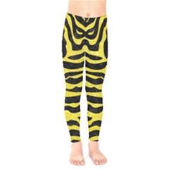 Skin2 Black Marble & Gold Glitter Kids  Legging