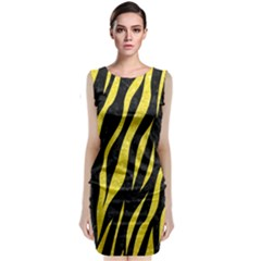 Skin3 Black Marble & Gold Glitter Classic Sleeveless Midi Dress