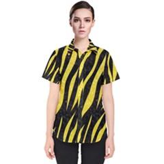 Skin3 Black Marble & Gold Glitter Women s Short Sleeve Shirt