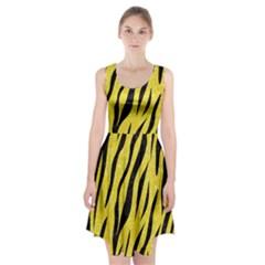 Skin3 Black Marble & Gold Glitter (r)skin3 Black Marble & Gold Glitter (r) Racerback Midi Dress