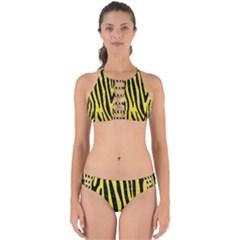 Skin4 Black Marble & Gold Glitter Perfectly Cut Out Bikini Set