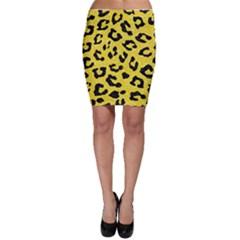 Skin5 Black Marble & Gold Glitter Bodycon Skirt