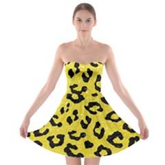 Skin5 Black Marble & Gold Glitter Strapless Bra Top Dress