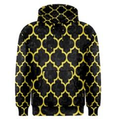 Tile1 Black Marble & Gold Glitter Men s Pullover Hoodie