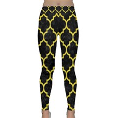 Tile1 Black Marble & Gold Glitter Classic Yoga Leggings